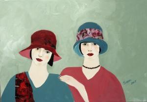 1920s Ladies in Burgundy...or as I prefer