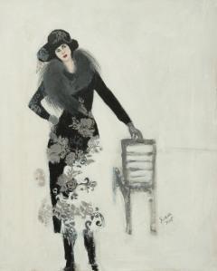 Flower Print Lady