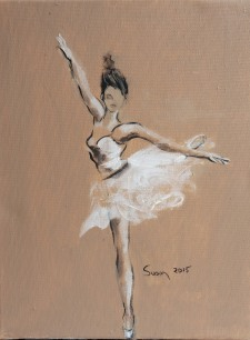 Ballet Dancer en Pointe in Beige