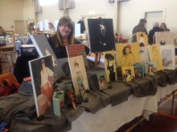 Sue at her stall at Clevedon market, Auckland.