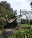 "Tsunami ""Early Warning System"", Opotiki, Bay of Plenty, NZ. Love the bicycle!"