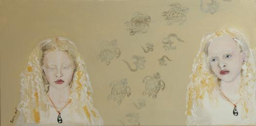 Albino Tongan girls