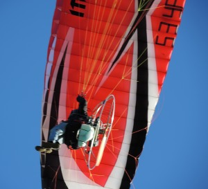 Paraglider close-up